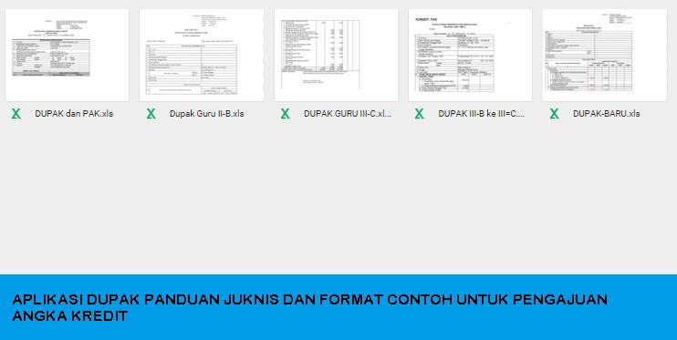 Aplikasi Dupak Panduan Juknis Dan Format Contoh Untuk