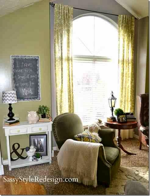 Ask melissa how to dress an eybrow window or half circle window