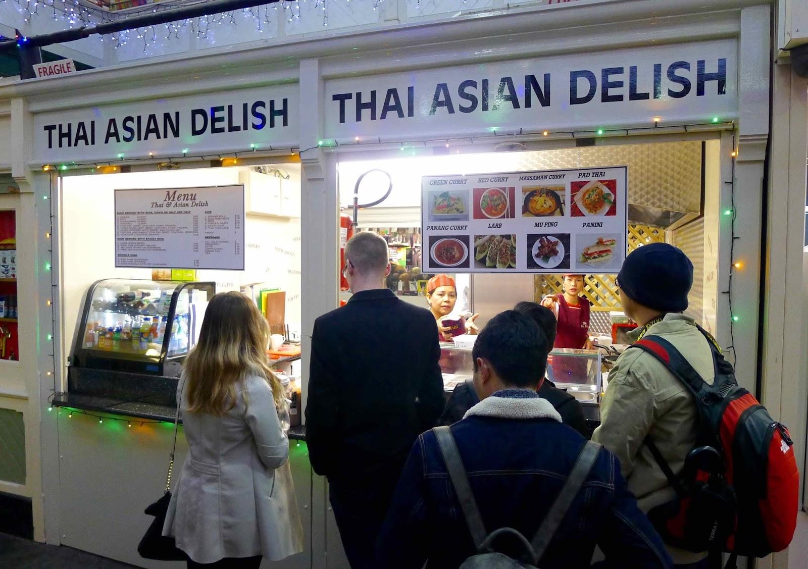 Thai asian food market, erotic short haired women