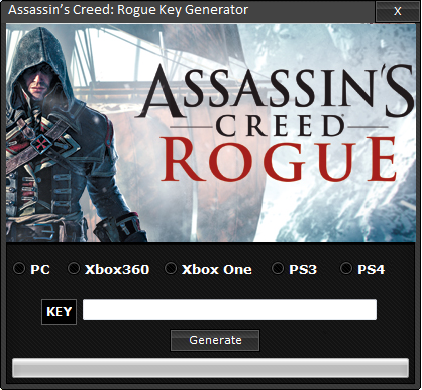 Assassin's Creed: Rogue Key Generator