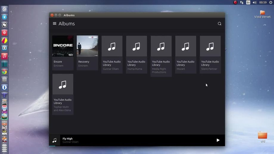 Music App in Ubuntu