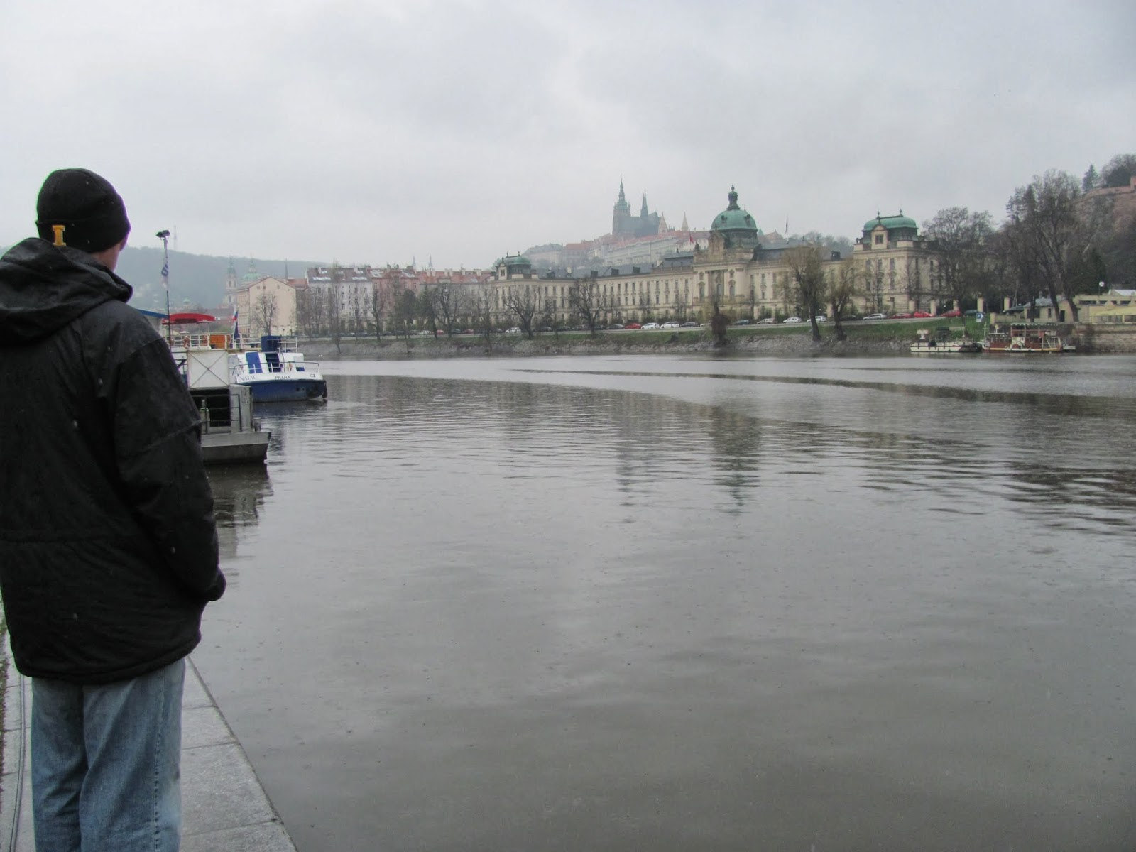 Obligatory Cory-Looking-at-the-Water Shot Prague, Czech Republic
