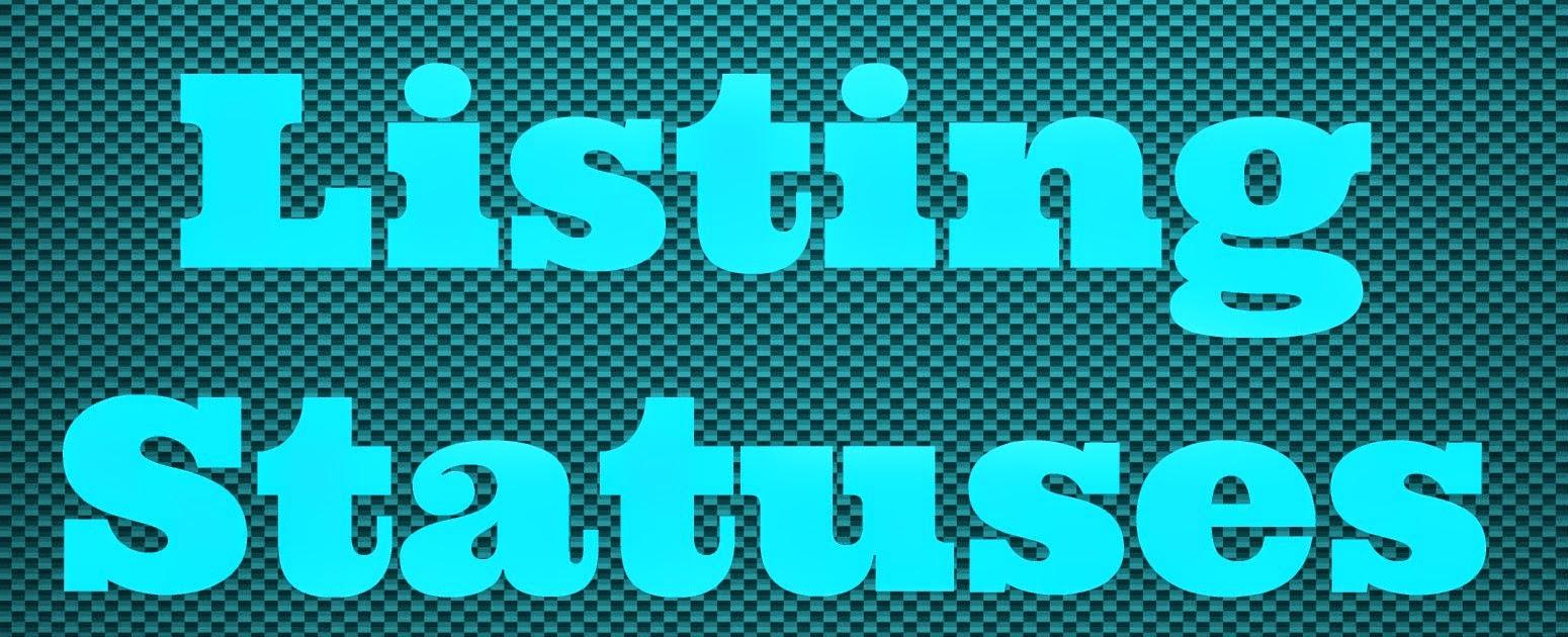 Listing Statuses
