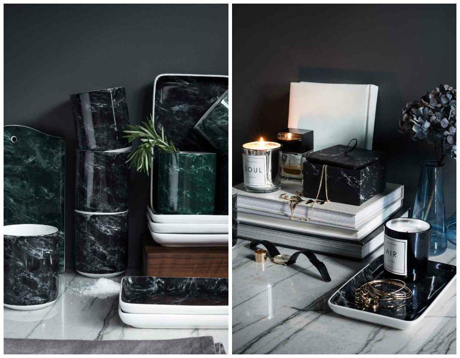 Decoraci n f cil m rmol y cobre imprescindibles en la for Materiales para marmol