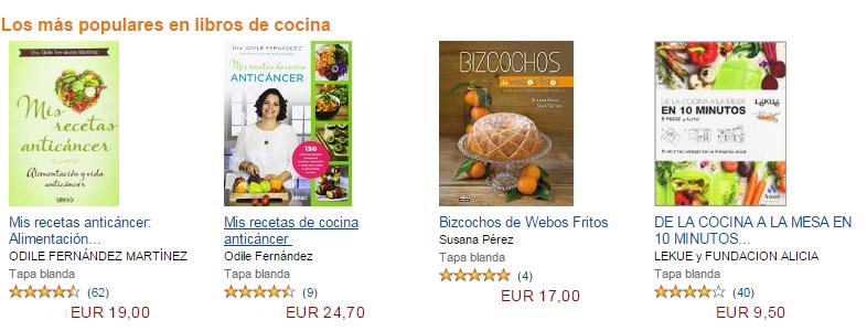 Libros de cocinas mas populares
