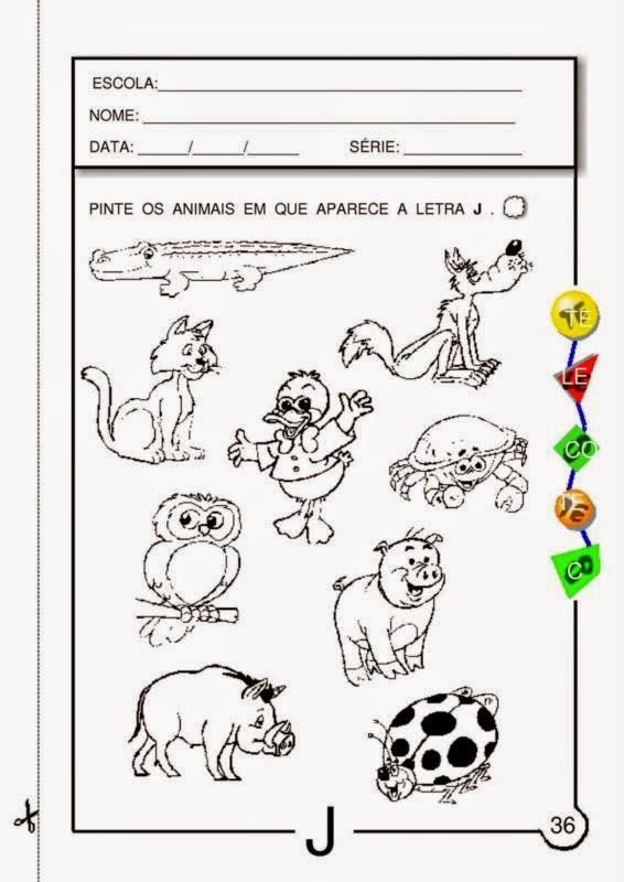 Muitas vezes 1º Ano - Atividades de Português com a Letra J ~ escolar MA26