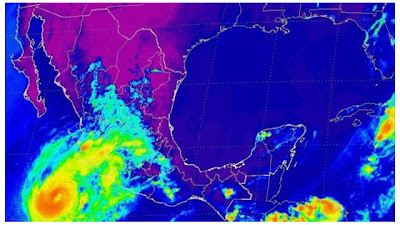 Huacán Bud se acerca a las costas de México, 25 de Mayo de 2012