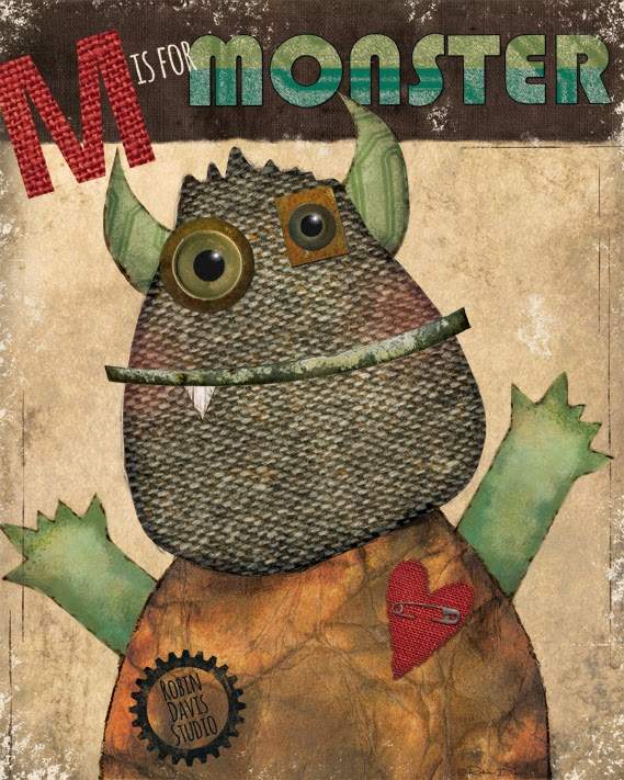 Monster - M is for Monster - Robin Davis Studio