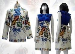 Model baju batik modern 001