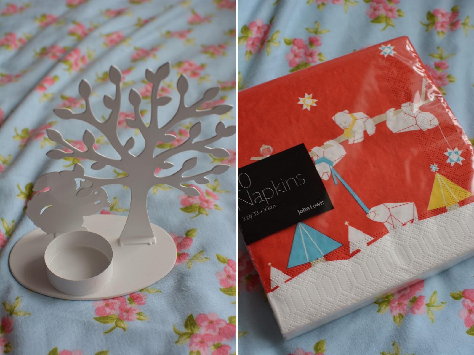 January sales haul tessa holly John lewis christmas ornaments