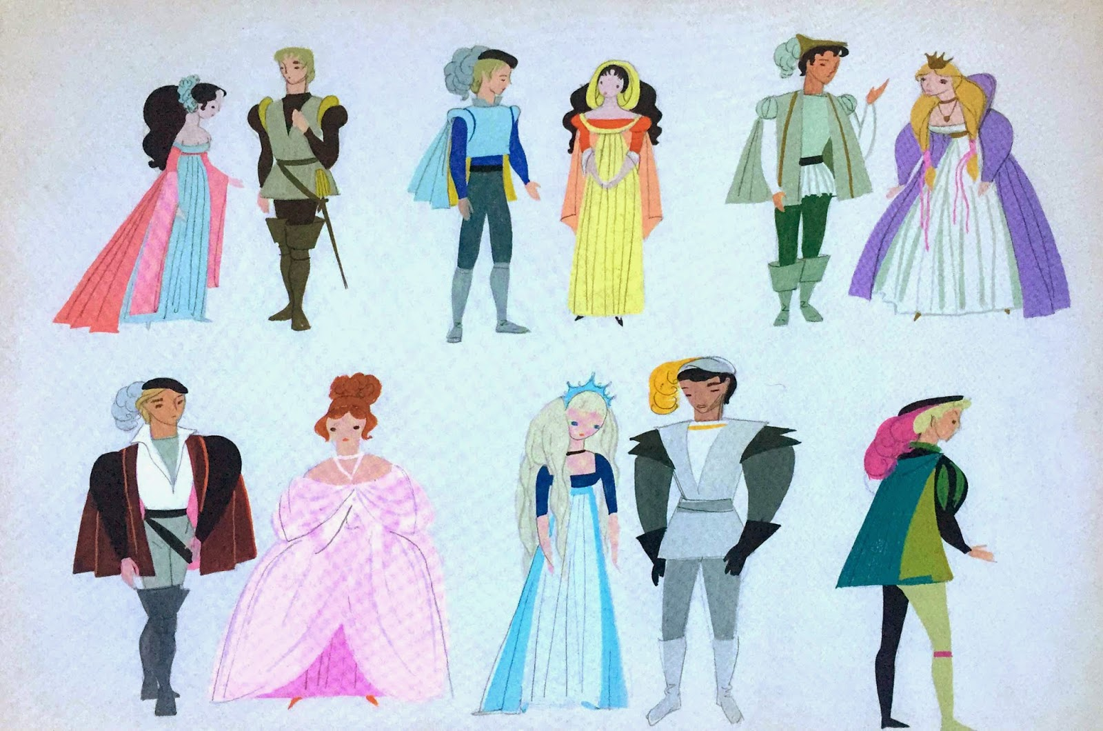 Character Design Work : Disney hipster mary blair character design work for