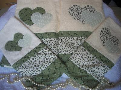 toalha coração patchwork