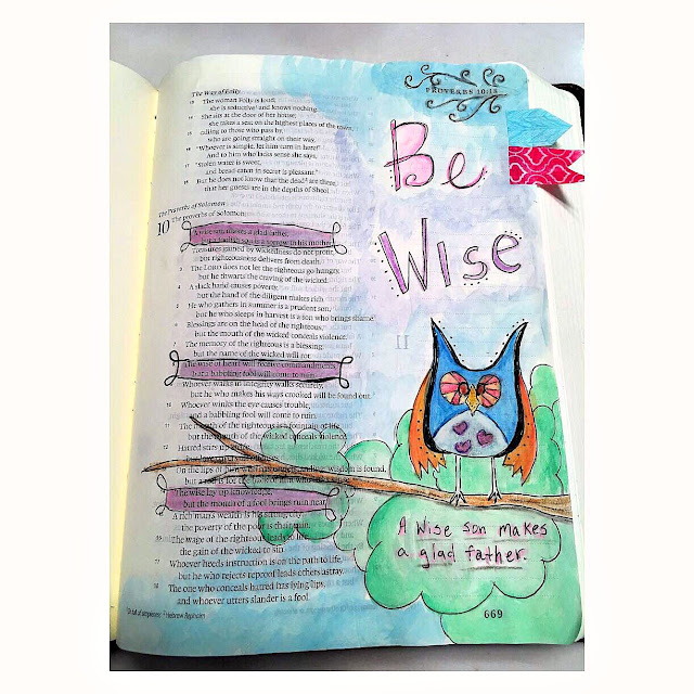 Illustrated Faith, bible journaling community, I color in my Bible