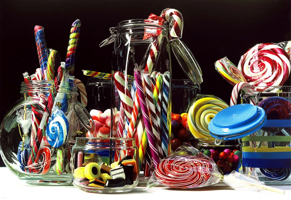 02-Candy-Rainbow-Roberto-Bernardi-Hyper-realistic-Candy-Paintings-www-designstack-co