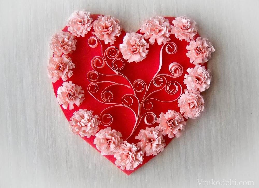 Красивая валентинка своим руками