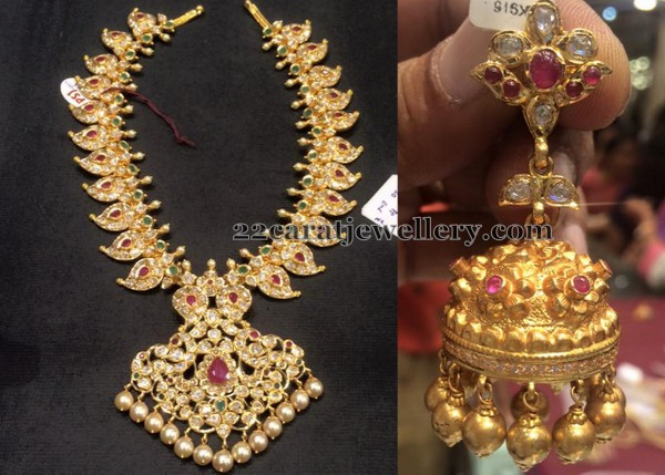 Antique Jhumka with Pachi Mango Set