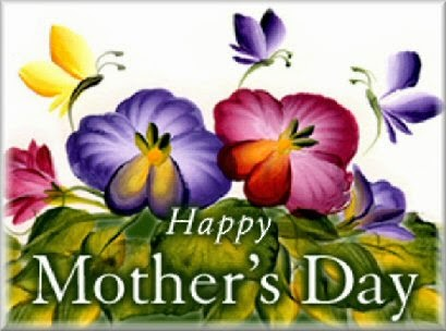 happy mothers day pansies image