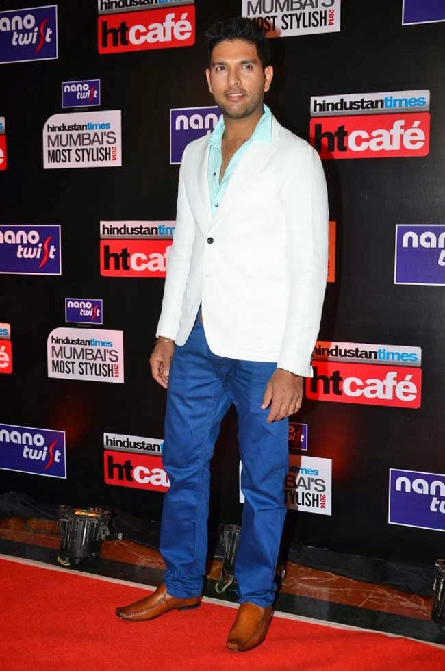 Yuvraj Singh at Most Stylish Awards 2014