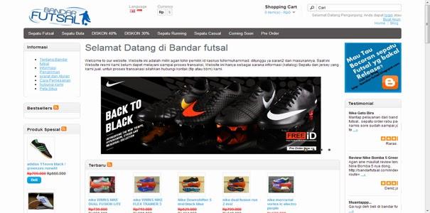 polisi online, sepatu futsal