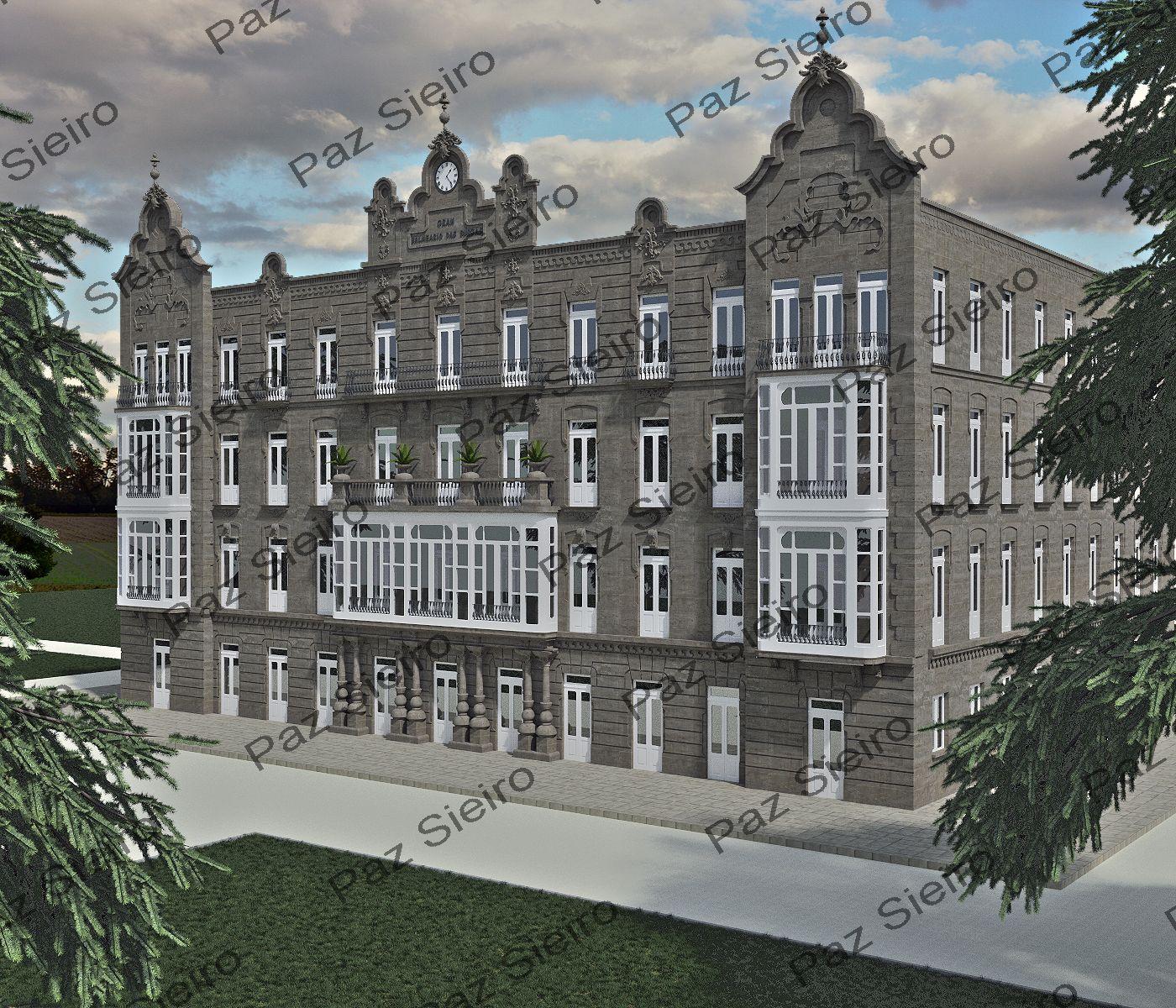 Gran balneario das burgas 1925 ourense arquitecto d pedro garc a faria arquitectura de - Arquitectos ourense ...