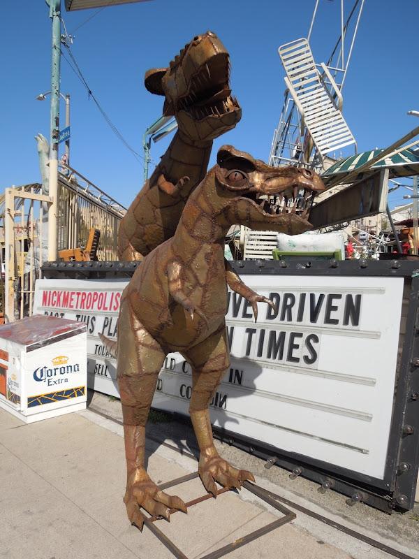 Metal dinosaur props