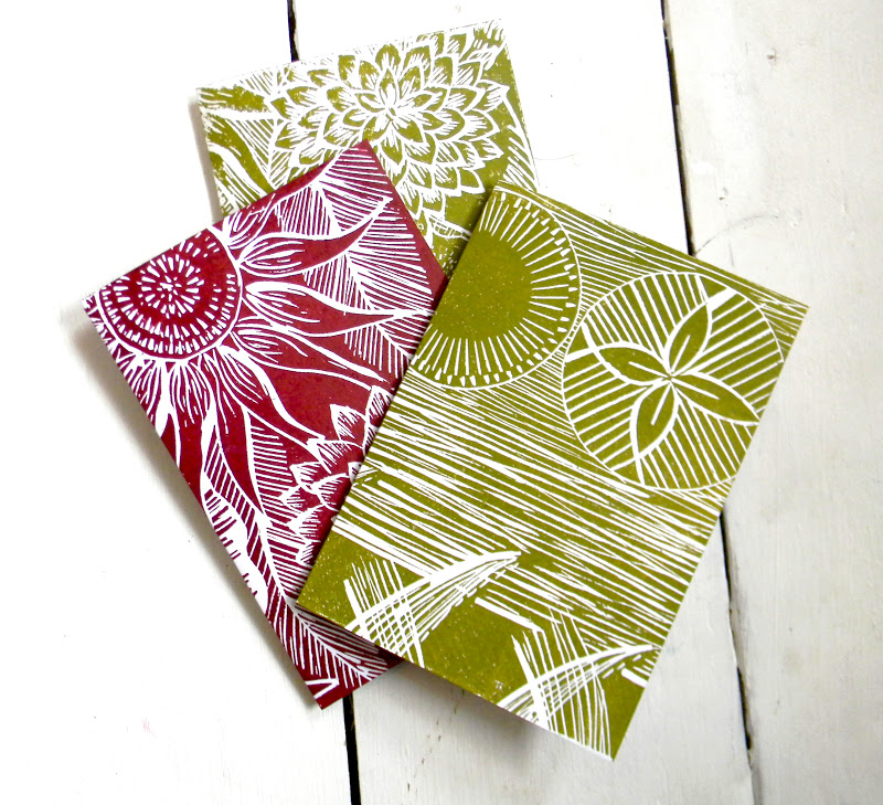 Mangle Prints: Hand Printed Card Sets