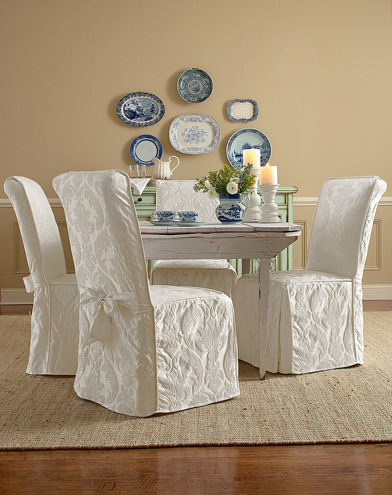 Sure Fit Slipcovers Super Easy Way To Pretty Up Those Dining