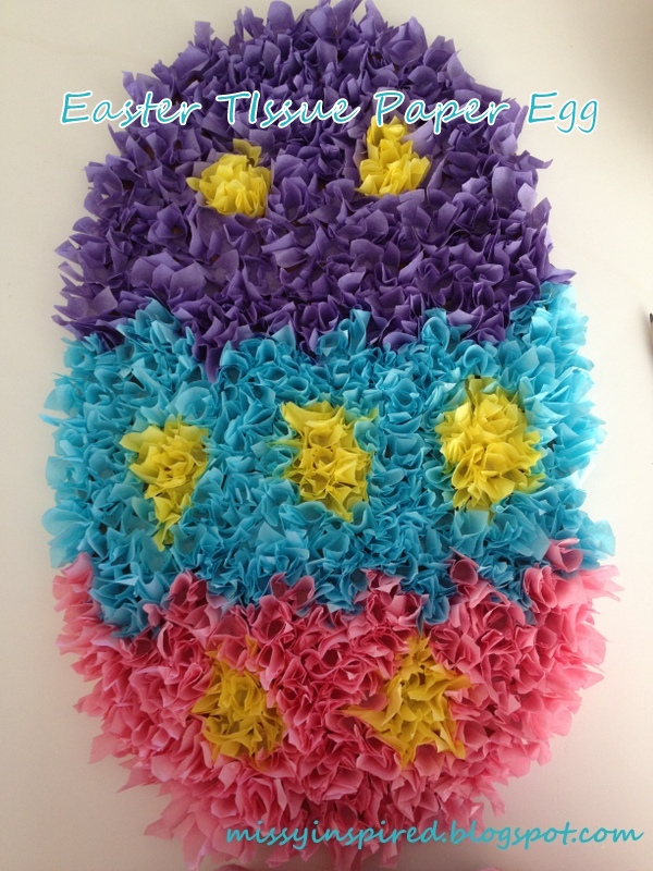 Easter Tissue Paper Egg