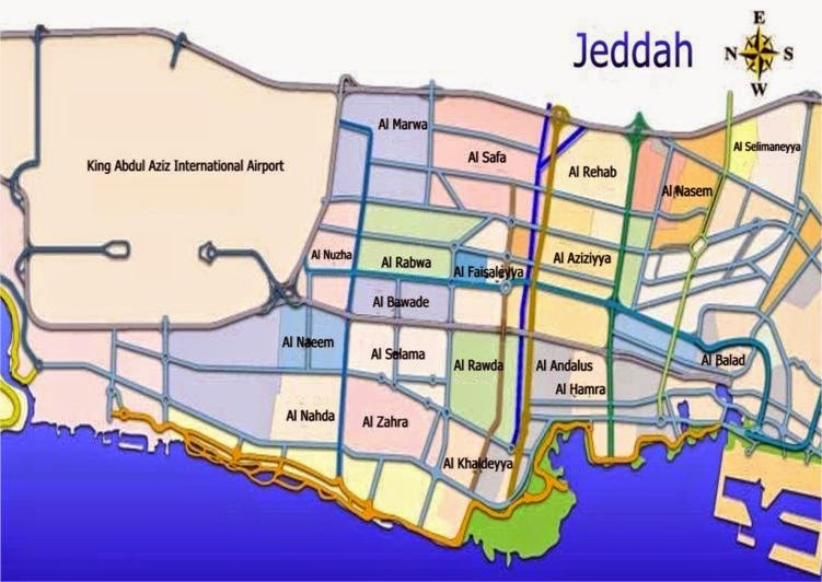 Saudi Arabia Jeddah city map