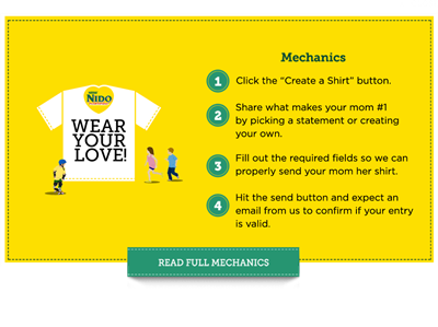 Nido Fortified Wear Your Love, Free T-shirt, Bench
