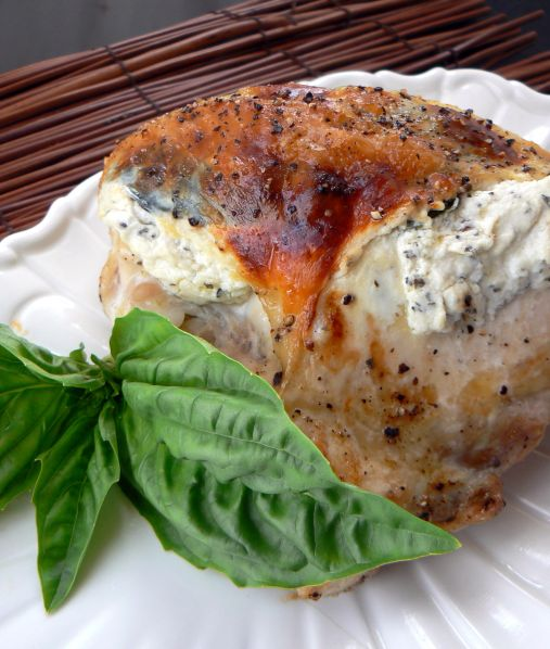 chicken with goat cheese