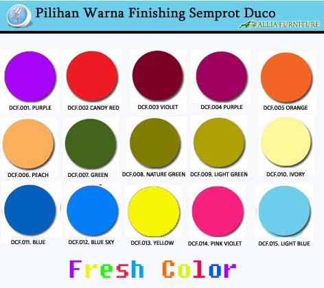 Pilihan Warna Finishing Cat Duco Fresh