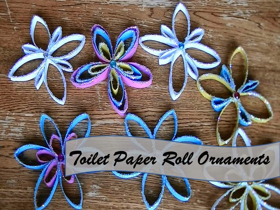 Upcycled stuff paper towel roll christmas ornaments day for Diy paper towel roll crafts