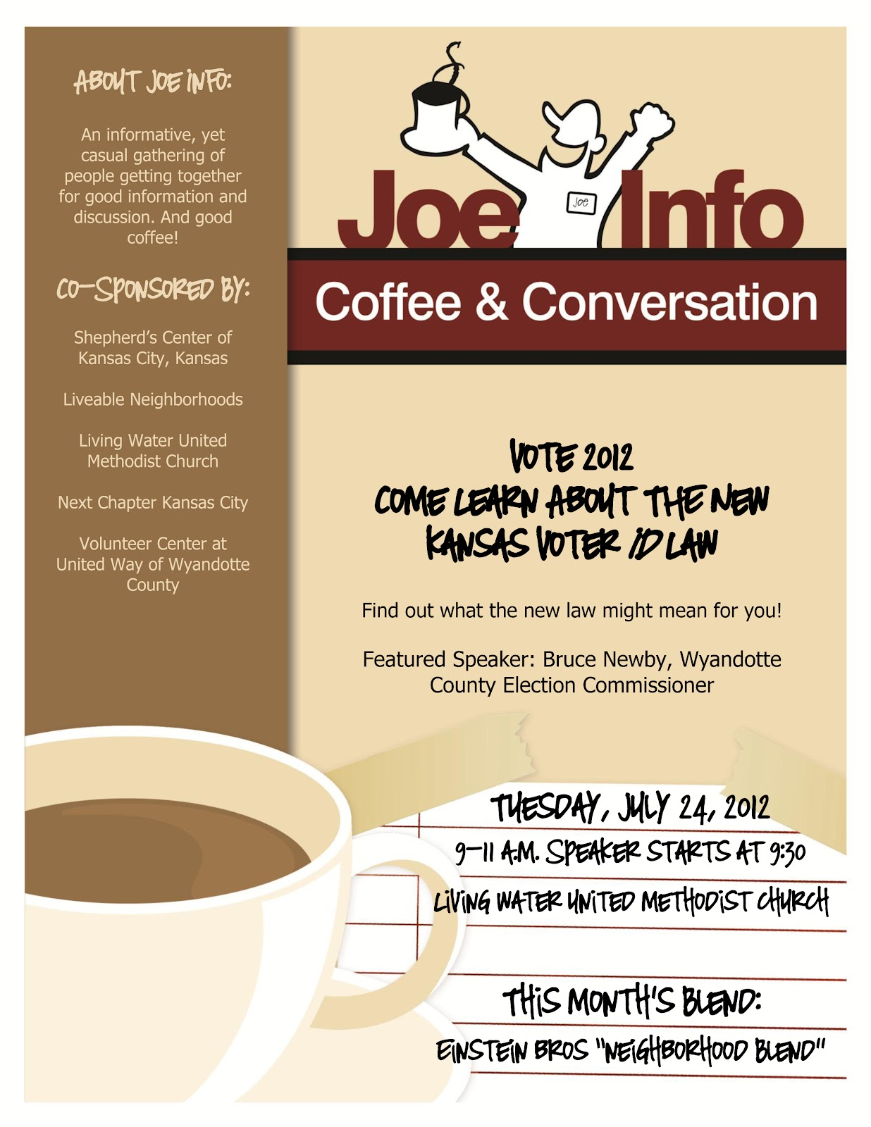 Kansas City Kansan Quot Coffee And Conversation Quot To Be Held
