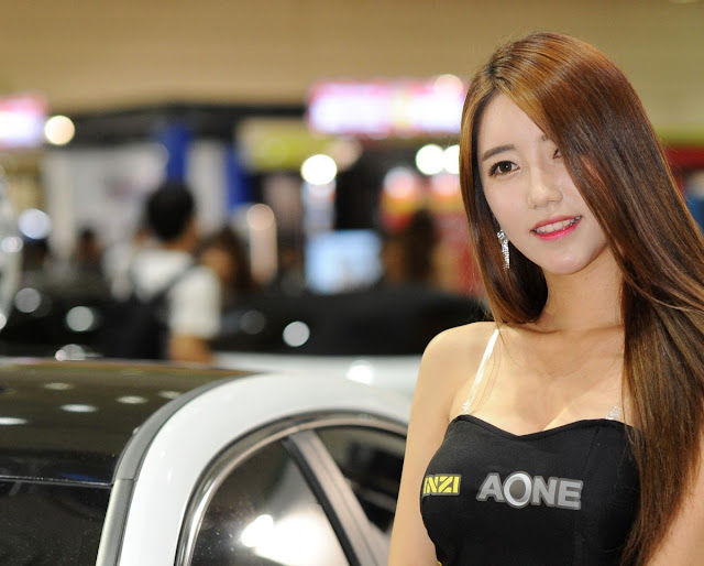 1 Im Sol Ah - 2015 Seoul Auto Salon - very cute asian girl-girlcute4u.blogspot.com
