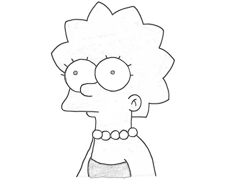 Lisa simpson coloring pages car interior design for Lisa simpson coloring pages