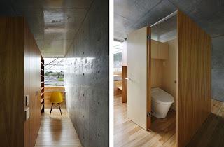 Interior minimalista de hormigón y madera