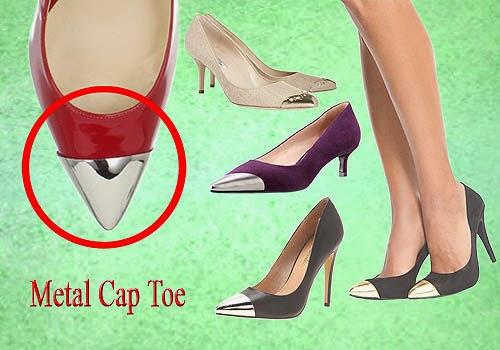 Bagian Depan Sepatu Wanita, Metal Cap Toe