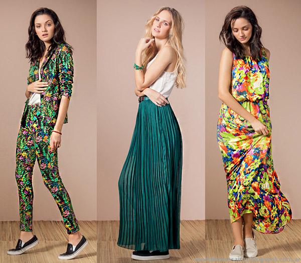 Núcleo Moda primavera verano 2015 faldas, vestidos y trajes de mujer.