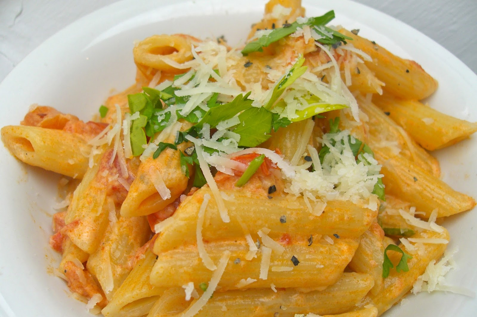 Pasta Alla Vodka - Rhyme & Ribbons