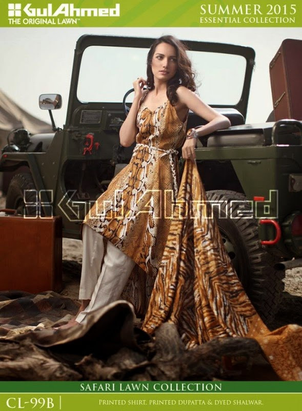 Safari Lawn Summer Collection by Gul Ahmed 2015 11