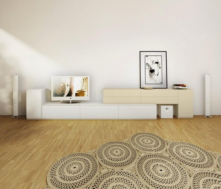 fourniture design blanc beige