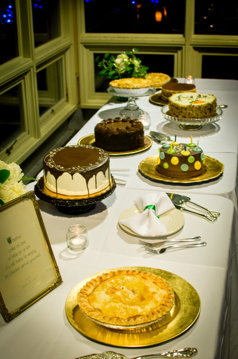 Dessert table at Jessica and Easa's wedding - Patricia Stimac, Seattle Wedding Officiant