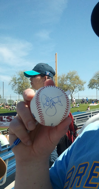 2012 Spring Training Robin Yount in person Signed ball.