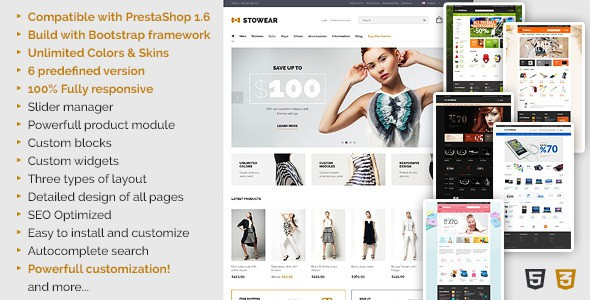 Themeforest Responsive PrestaShop Theme