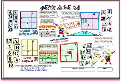 Cuadrados Mágicos, Cuadrado Mágico, cuadrados mágicos con solución, cuadrados mágicos para estudiantes, cuadrados mágicos de 3x3, cuadrados mágicos de orden 3, Retos Matemáticos, Desafíos Matemáticos, Problemas para pensar, Problemas de lógica matemática