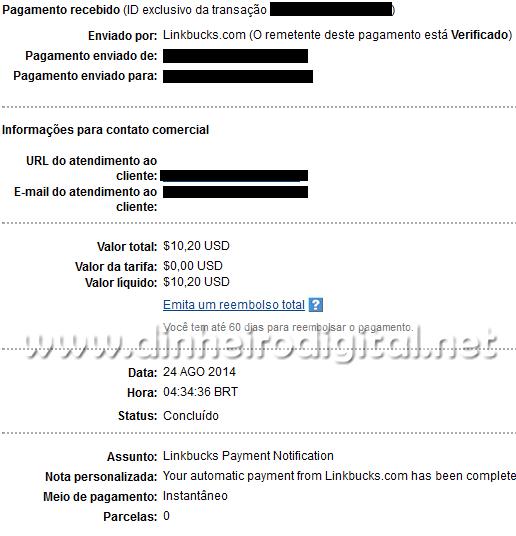 linkbucks pagamento