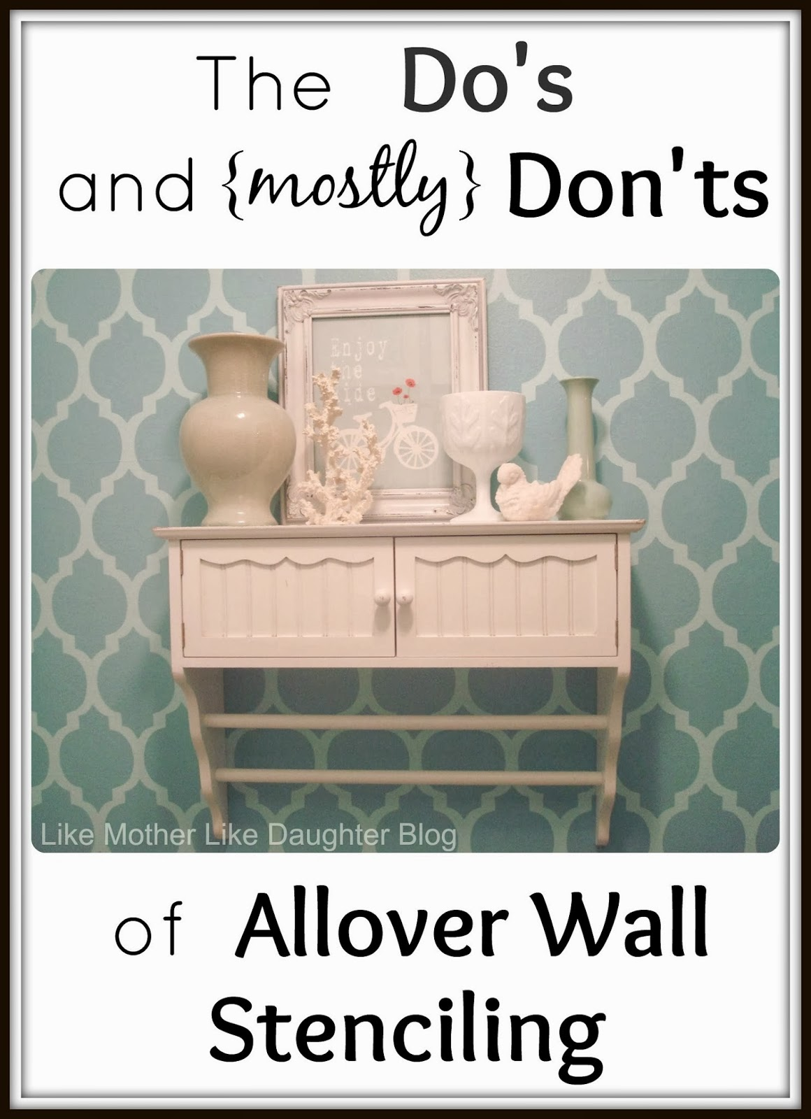 Like Mother Like Daughter Allover Wall Stenciling