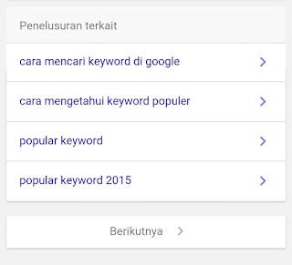 Cara mencari keyword populer