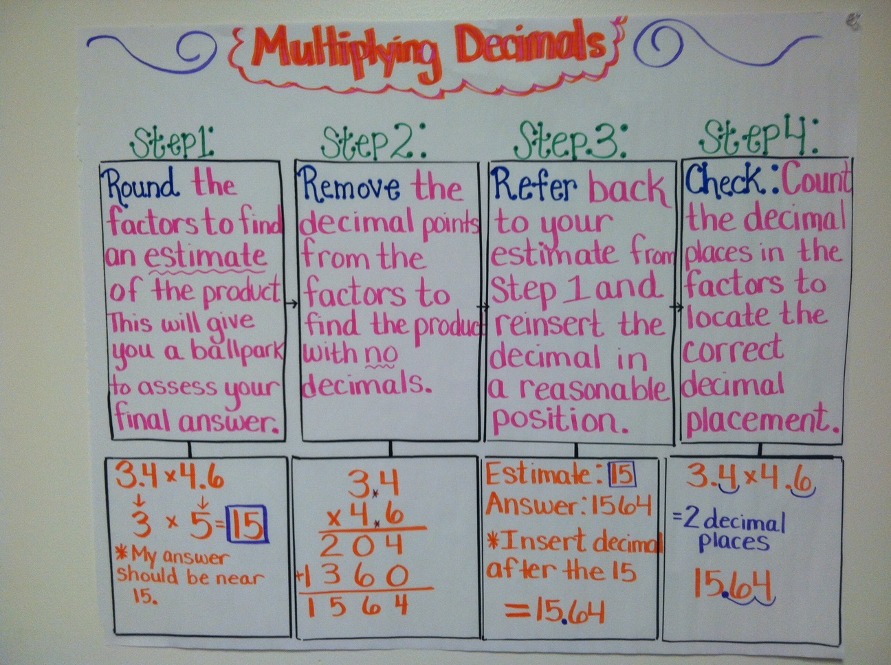 Worksheet Multiplying Decimals Activities teaching with a mountain view multiplying decimals decimals